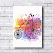 Quadro Bicicleta Roxa