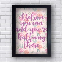 Quadro Decorativo Believe you can