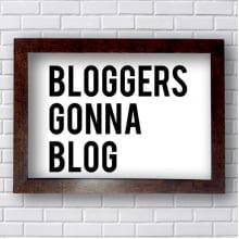 Quadro Decorativo Blogers Ganna  Blog