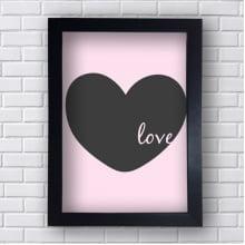 Quadro Decorativo Coração Love