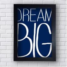 Quadro Decorativo Dream Big Azul