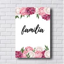 Quadro  Decorativo Familia com Flores