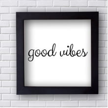 Quadro  Decorativo Good Vibes