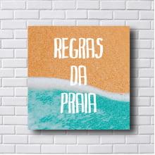 Quadro Decorativo Regras da Praia