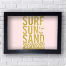 Quadro Decorativo Surf Sun Sand