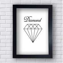 Quadro Decorativo Diamand