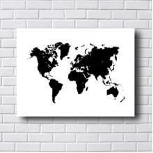 Quadro Decorativo Mapa Mundi