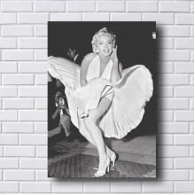 Quadro Decorativo Marilyn Monroe Cena do Vestido