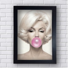 Quadro Decorativo Marilyn Monroe com Chiclete