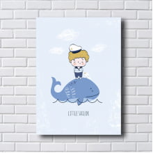 Quadro Decorativo baleia azul