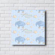 Quadro  Decorativo tambor e elefante
