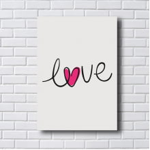 Placa Quadro Decorativo Love