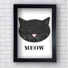 Quadro Decorativo Meow