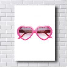 Quadro Decorativo Óculos Rosa