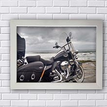 Placa Decorativa Harley Davidson Praia