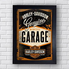 Quadro Decorativo Harley Davidson Garage