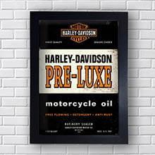 Quadro Decorativo Harley Davidson Pre Luxe