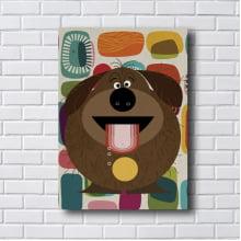 Quadro Decorativo DOG HAPPY