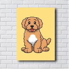 Quadro Decorativo DOG Poodle Grande