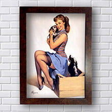 Quadro Pin Up Cachorrinho
