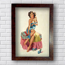 Quadro Decorativo Pin Up Woman