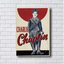Quadro Decorativo Charlie Chaplin