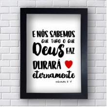 Quadro Decorativo ECLESIASTES 3:4