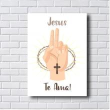Quadro Decorativo JESUS TE AMA