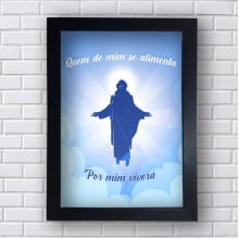 Quadro Decorativo QUEM DE MIM SE ALIMENTA DE MIM VIVERÁ