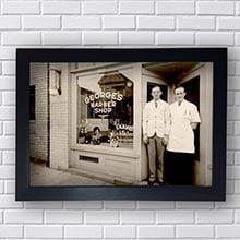 Quadro Vintage George Barber Shop