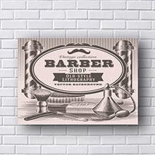 Placas Decorativas para Barbearia Old Style