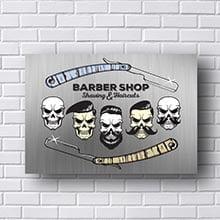 Quadro Barber Shop Skulls