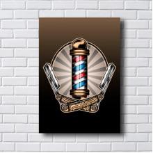 Quadro decorativo BARBER CLIPART SHOP