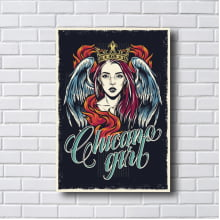Quadro decorativo CHICAGO GIRL