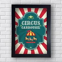 Quadro Decorativo Circus Carrousel
