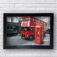 Quadro Decorativo Londres Telefhone