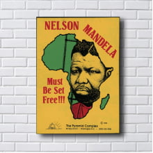 Quadro Decorativo Nelson Mandela