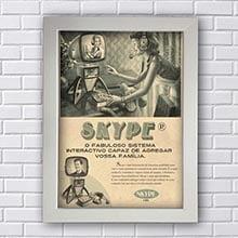 Quadro Decorativo Skype