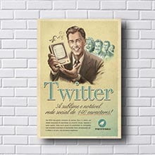Quadro Decorativo Twitter